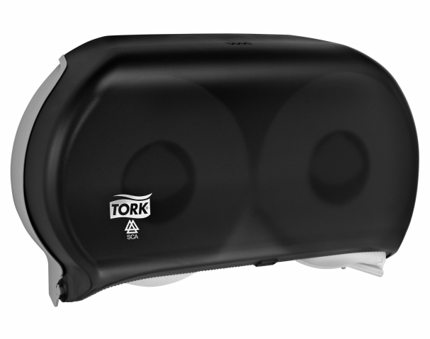 56TR - Tork Bath Tissue Jumbo Roll Twin Dispenser, 9 inch, Smoke