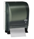 87T - Tork Hand Towel Roll Dispenser, Push Bar Auto Transfer, Smoke/Gray